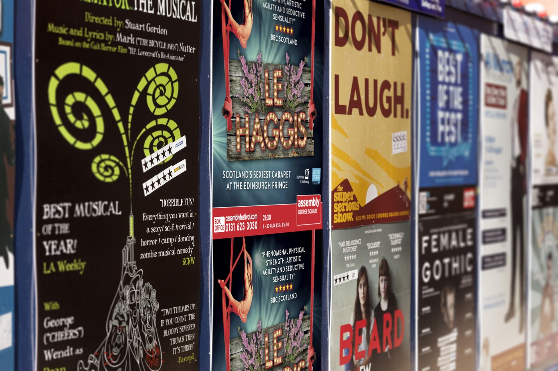 Le Haggis Posters in situ